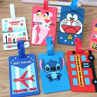Fashion cartoon anime silicone luggage tag consignment boarding pass listing NHJA204079's discount tags