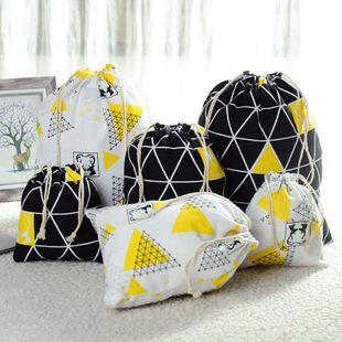 Drawstring drawstring creative cotton bag backpack bag drawstring cotton bunch pocket cotton linen pocket NHJA204093's discount tags