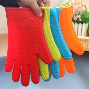 Microondas guantes para hornear de silicona suministros de cocina guantes aislantes de cinco dedos NHJA204097's discount tags