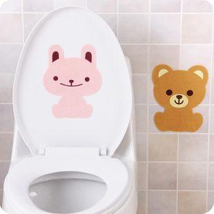 Cartoon animal bathroom toilet stickers thick felt bathroom toilet deodorant stickers deodorant paste pad NHJA204099's discount tags