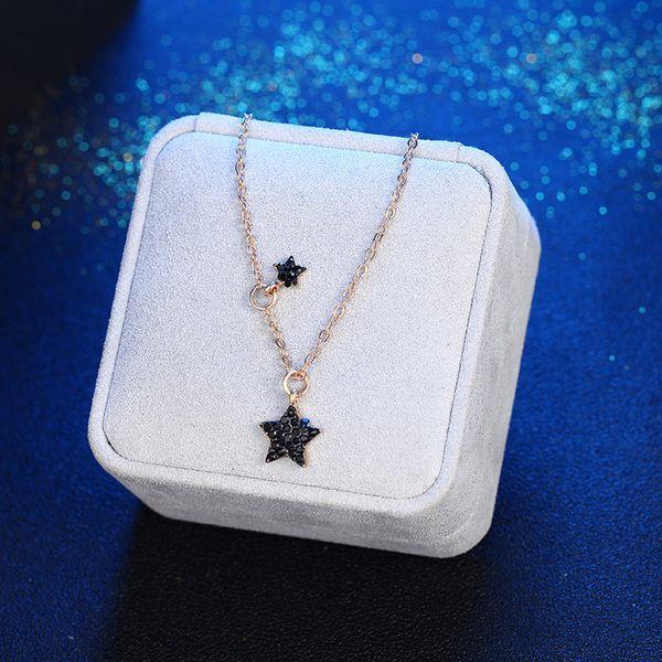 Korean simple fashion creative pentagram star pendant necklace NHPF197059