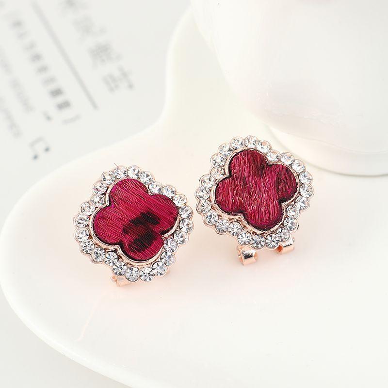 Korean simple wild fashion retro clover earrings NHPS204102