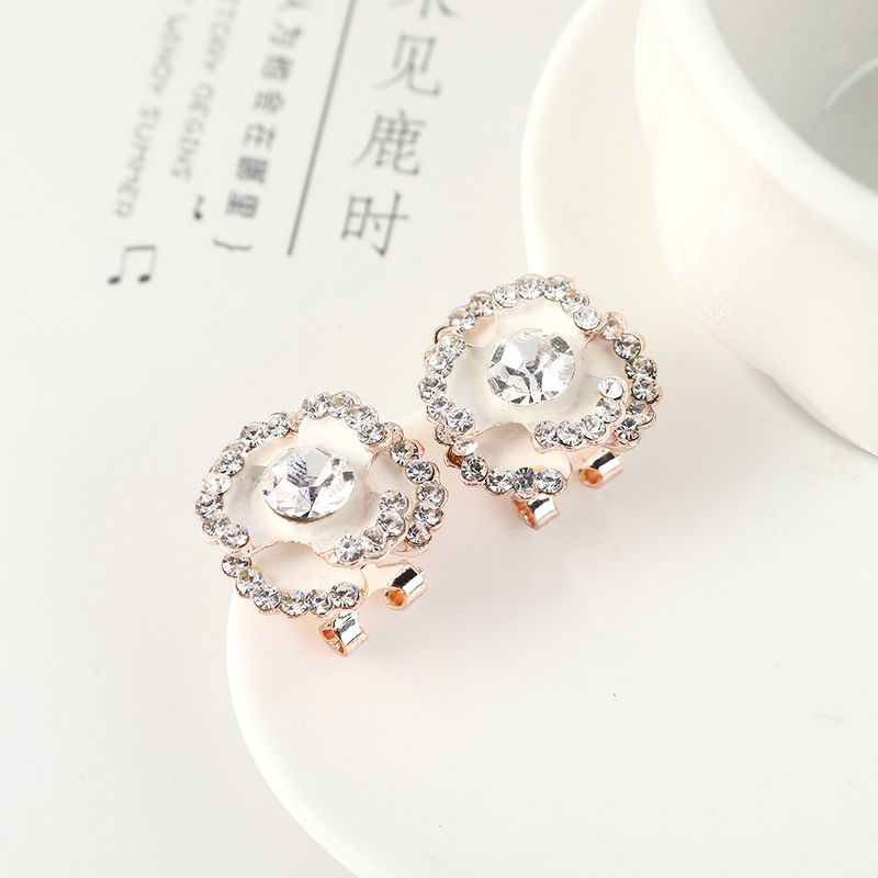 Fashionable small and simple wild flower earrings NHPS204105