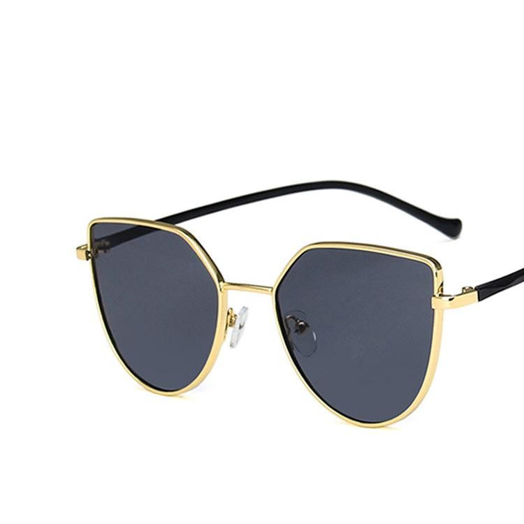 Metal Frame Leg Cat Eye Sunglasses Retro Wild Fashion Sunglasses NHKD203912