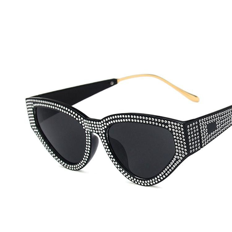 Diamond Triangle Cat Eye Sunglasses New Fashion Retro Sunglasses Wholesale NHKD203907