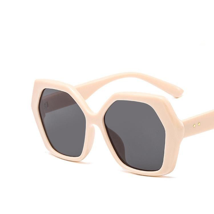Fashion polygon new trendy metal hinge sunglasses wholesale NHKD203905