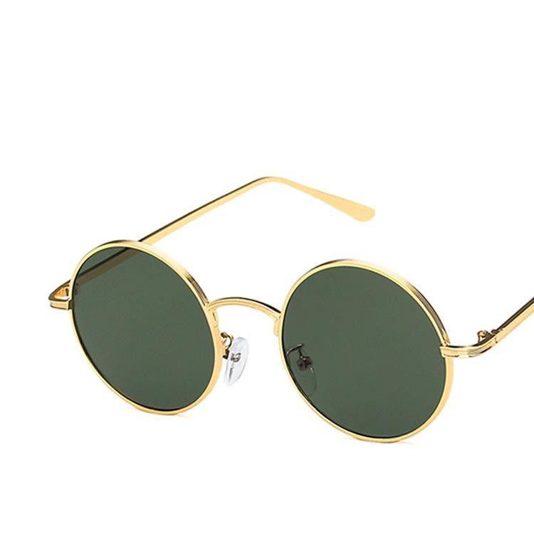 Retro round frame sunglasses hip hop metal sunglasses wholesale NHKD203899