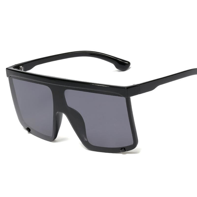 New fashion ladies sunglasses conjoined lenses big hinge sunshade sunglasses men glasses wholesale NHFY203893