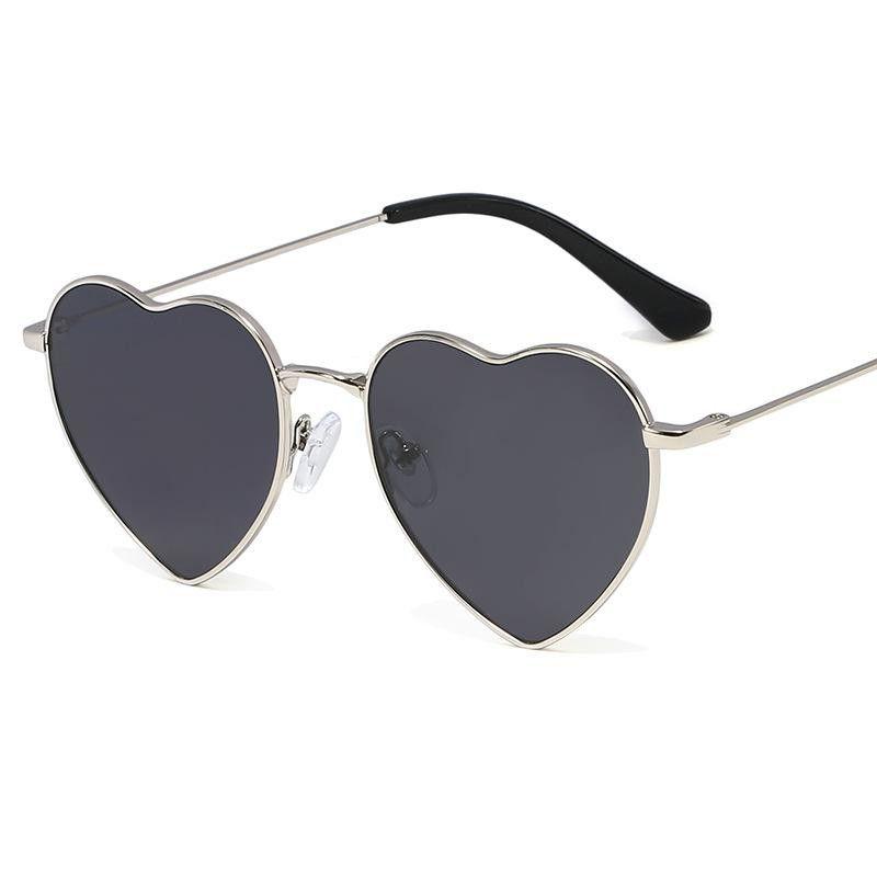 Vintage Love Sunglasses Lady Fashion Wild Gold-Edged Sunglasses Peach Heart Shaped Glasses NHFY203892