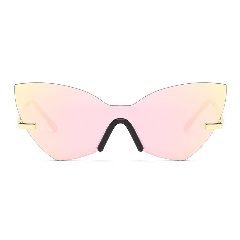 New irregular cat eye sunglasses women colorful bright thin sunglasses wholesale NHFY203881