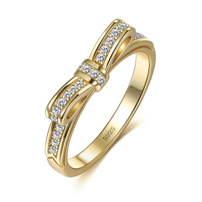 New fashion bow broken diamond ring wholesale NHKL203827