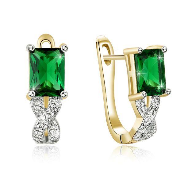 New fashion simple zircon green earrings for women wholesale NHKL203785