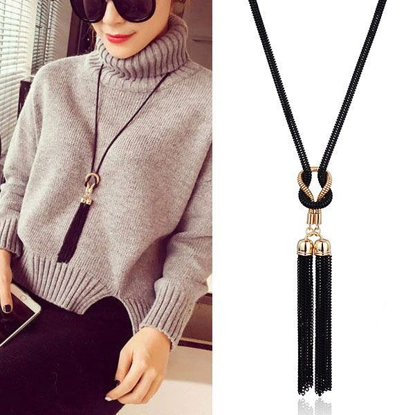 Fashion Metal Simple Tassel Long Money Chain Sweater Chain Wholesale NHSC204321
