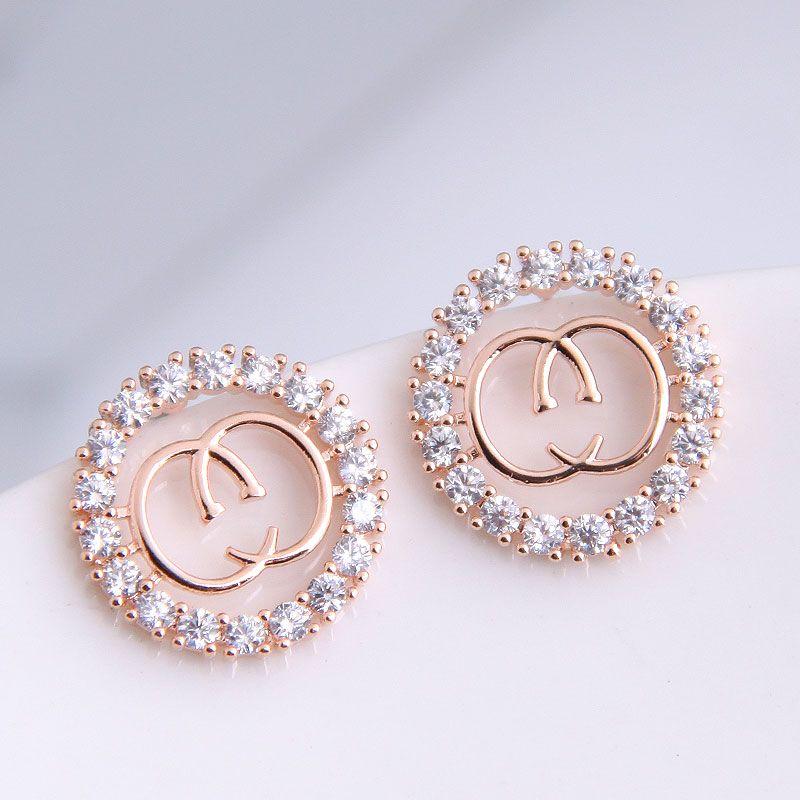 925 Silver Needle Korean Fashion Sweet OL Shining Simple Earrings Wholesale NHSC204305
