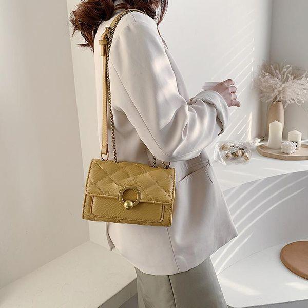 New fashion Korean wild messenger bag chain shoulder fashion small square bag wholesale NHTC204148