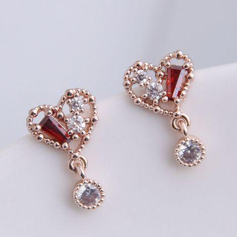 Aiguille en argent 925 mode coréenne Sweet OL petites boucles d'oreilles en gros NHSC204301's discount tags