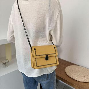 New wild texture chain cross-body bag Korean fashion shoulder small square bag wholesale NHTC204260's discount tags