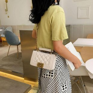 Lingge chain bag women's new fashion messenger bag Korean wild small square bag wholesale NHTC204262's discount tags