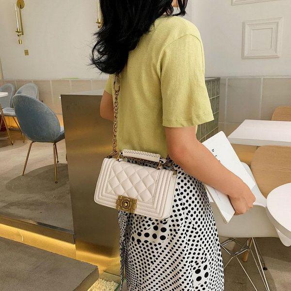 Lingge chain bag women's new fashion messenger bag Korean wild small square bag wholesale NHTC204262