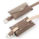 Fashion new ladies leather belt bag Korean casual mobile phone bag inlaid large belt bag belt NHPO204285