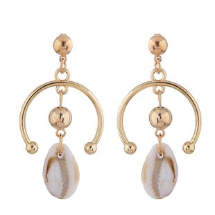 Fashion metal simple sea shell classic earrings wholesale NHSC204298's discount tags