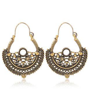 Fashion Metal Retro Simple Hollow Fashion Earrings Wholesale NHSC204291's discount tags
