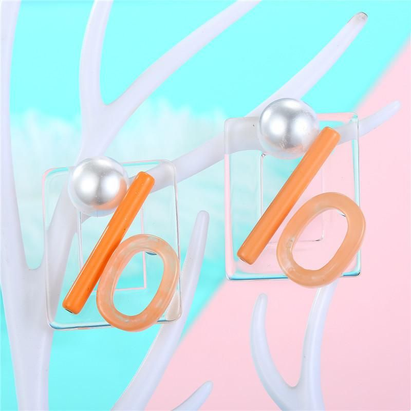 Jewelry Geometric Acrylic Earrings Pearl Earrings wholesales yiwu suppliers china NHGO204367