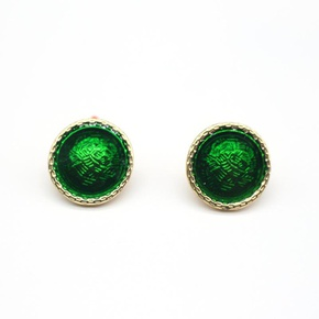 New Jewelry Dripping Round Earrings Geometric Stud Earrings NHGO204375