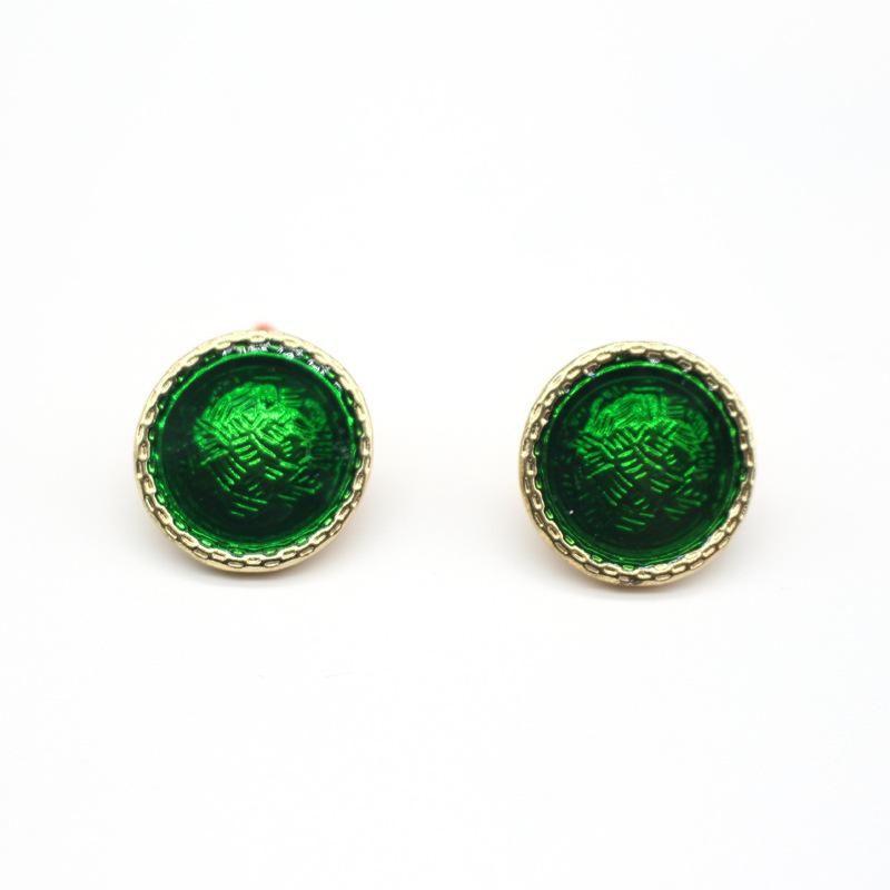 New Jewelry Dripping Round Earrings Geometric Stud Earrings NHGO204375