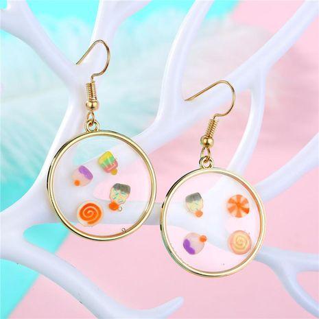 Geometric Epoxy Earring Bag Ear Studs Fruit Piece Earrings NHGO204377's discount tags