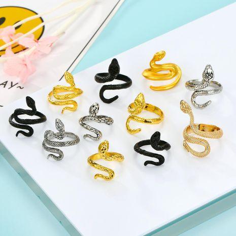 Bijoux ancienne bague serpent en argent bague cobra vintage bague dorée NHGO204380's discount tags