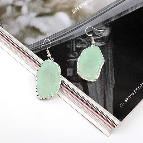 Jewelry scum earrings imitation natural stone earrings long earrings resin earrings NHGO204383's discount tags
