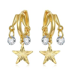 New Fashion Tassel Pendant Earrings Multilayer Sequin Earrings Zircon Earrings Star Earrings Wholesale NHGO204390's discount tags