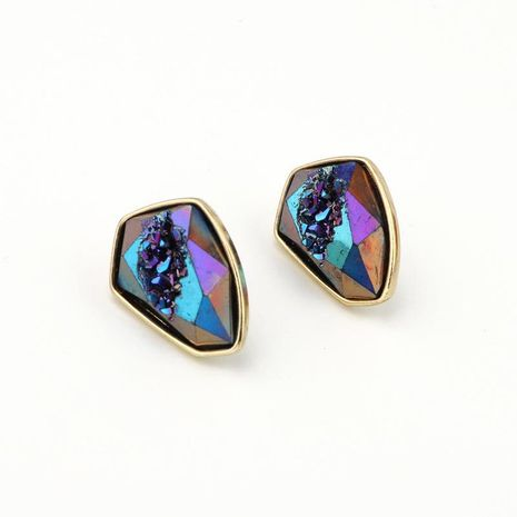 Jewelry color imitation natural stone earrings imitation agate earrings resin earrings Yiwu NHGO204392's discount tags