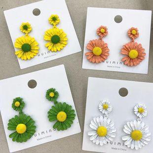 925 Silver Needle New Flower Earrings Daisy Earrings Sweet Wild Flower Earrings Wholesale NHGO204395's discount tags
