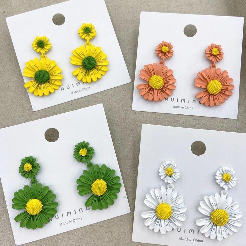 925 Silver Needle New Flower Earrings Daisy Earrings Sweet Wild Flower Earrings Wholesale NHGO204395