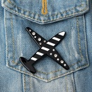 New acrylic airplane brooch stripe airplane badge brooch cartoon bag patch NHGO204397
