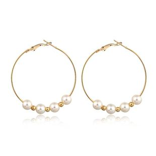 New fashion exaggerated pearl earrings large earrings wholesale NHGO204400's discount tags