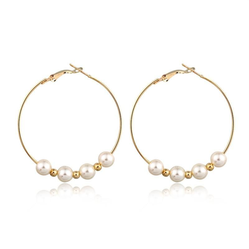 New fashion exaggerated pearl earrings large earrings wholesale NHGO204400