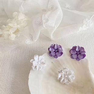 Korean new flower earrings pearl flower earrings sweet wild flower earrings wholesale NHGO204401's discount tags