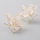 Korean delicate crystal hollow flower earrings for women S925 silver needle earrings NHLN204419