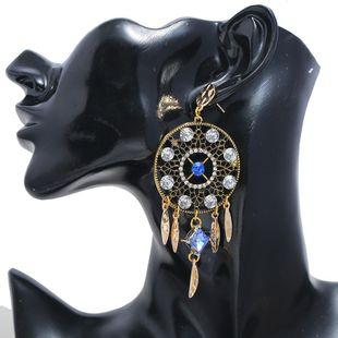 Bohemian Jewelry Geometric Long Diamond Tassel Earrings for women Earrings NHLN204420's discount tags