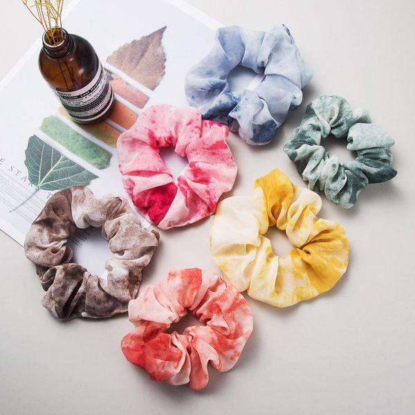 Korean color chiffon fabric hair ring large cheap hair rope wholesale NHLN204422
