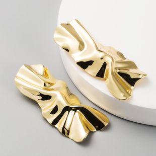 Fashion long metal bump three-dimensional tassel earrings geometric fashion earrings NHLN204425's discount tags