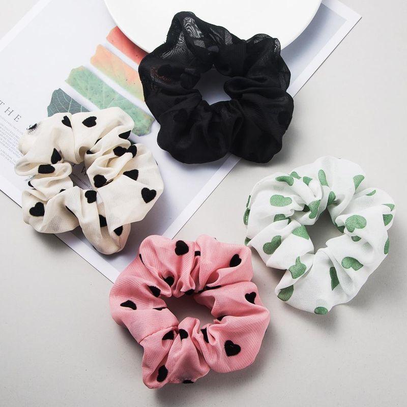 Korean fashion simple hair accessories love elastic band elastic fabric cute cheap rubber band wholesale NHLN204429