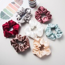 Korean simple fashion satin fabric hair ring elastic head rope solid color cheap hair ring wholesale NHLN204430