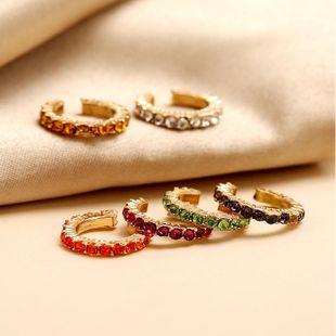 Colorful diamond-free pierced ear ear clip fashion new simple C ear bone clip NHKQ204448's discount tags