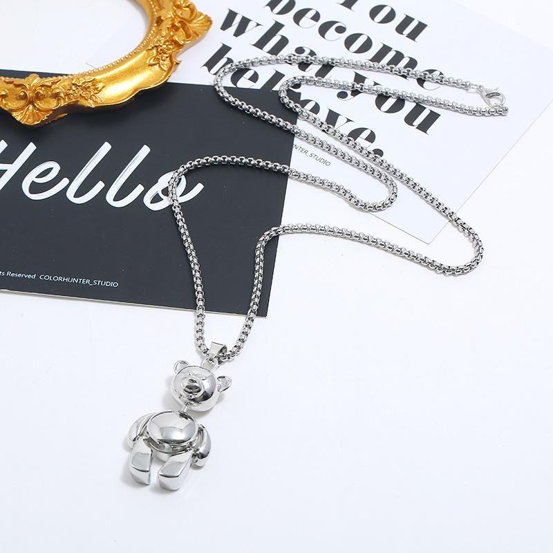 Long sweater chain fashion cartoon bear necklace wholesales yiwu  NHKQ204455