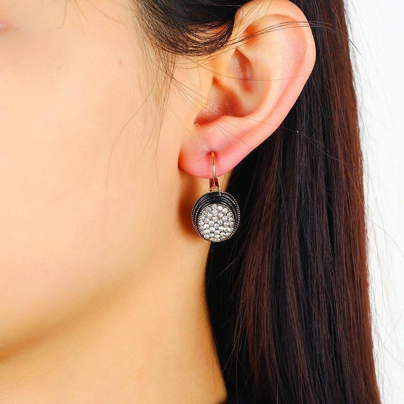 New Oval Diamond Geometric Earrings Fashion Retro Minimalist Boho Earrings NHKQ204460