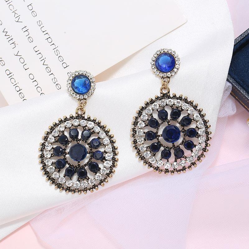 Fashion vintage boho full diamond earrings NHKQ204463